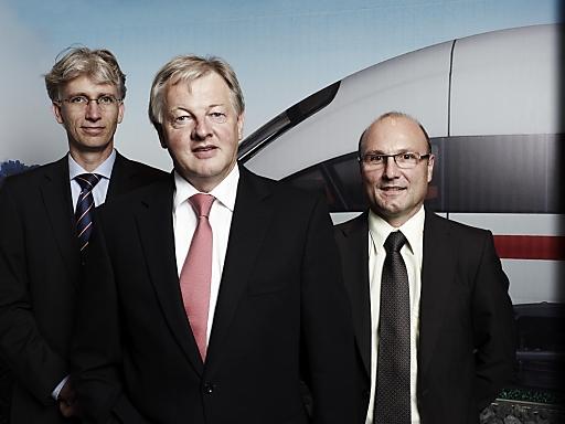 Das Management der Modelleisenbahn Holding hat das Unternehmen in einem Management-Buy-out übernommen (v.l.n.r.): Roland Edenhofer (CFO), Leopold Heher (CEO) und Johannes Steinparzer (COO).