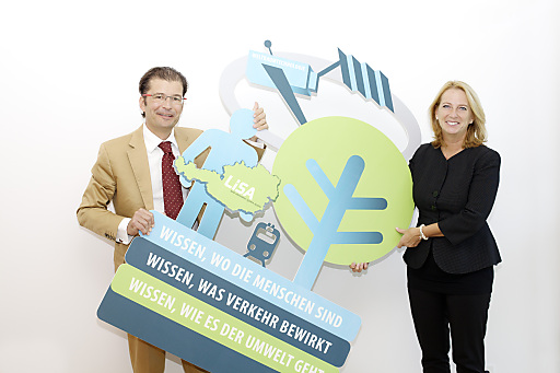Dr. Christian Hoffmann und Bundesministerin Doris Bures präsentieren LiSA