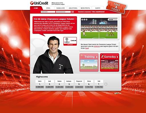 "UniCredit Gewinnspiel ""Take a Ticket"" via www.take-a-ticket.eu, Facebook und Mobile Apps"
