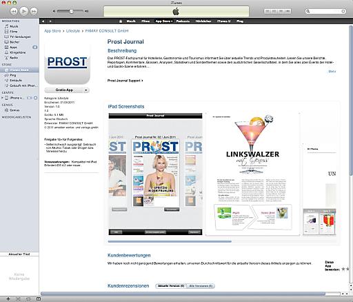 PROST ist ab sofort gratis im App-Store erhältlich.