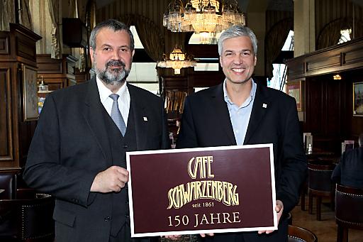 Herbert Fuchs (Geschäftsführer GOURMETGROUP) & Alfred Altenburger (Betriebsleiter Cafe Schwarzenberg)