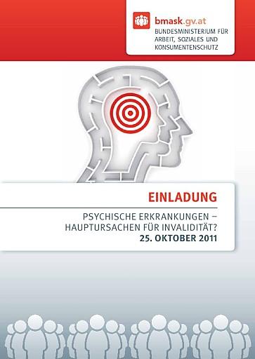 """BMASK-Enquete """"Psychische Erkrankungen - Hauptursachen für Invalidität?"""" am 25. Oktober 2011"""