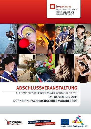 Aviso: Abschlussveranstaltung Europäisches Freiwilligenjahr am 21. November in Dornbirn