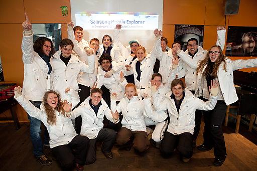 Die jungen Samsung Mobile Explorer freuen sich auf ihren Einsatz in Innsbruck.