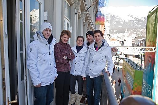 Samsung Mobile Explorer treffen Innsbrucks Bürgermeisterin