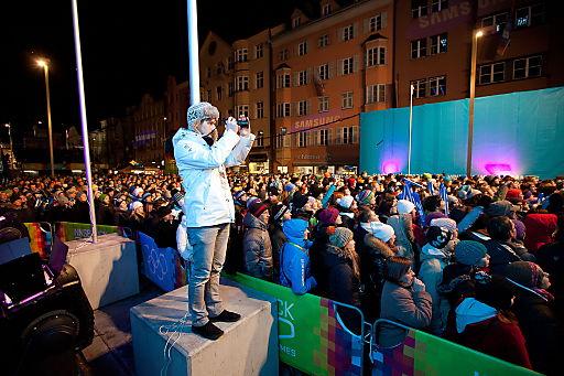 Begeisterte Fans beim Music Festival und Media Art-Event in Innsbruck