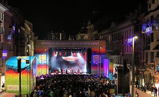 Vielseitiges Rahmenprogramm bei den YOG 2012. Hier: Music Festival powered by Samsung.