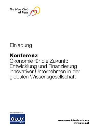 """Einladung Konferenz """"Ökonomie für die Zukunft"""""""