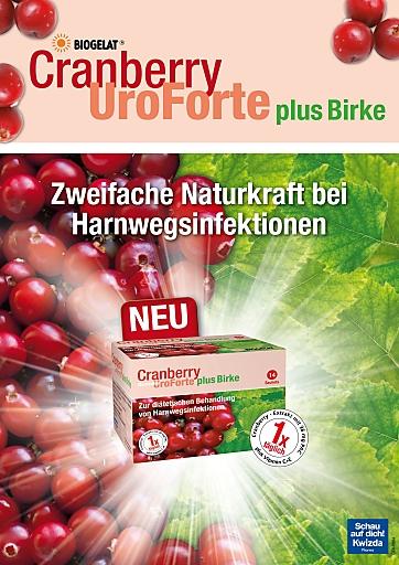 BIOGELAT(R) Cranberry UroForte plus Birke Visual