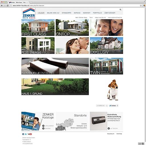 Screenshot Zenker Website