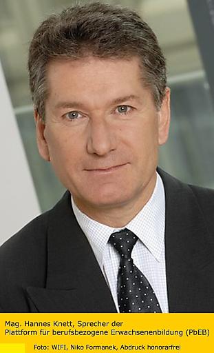 Mag. Hannes Knett, Sprecher der Plattform für berufsbezogene Erwachsenenbildung (PdEB)