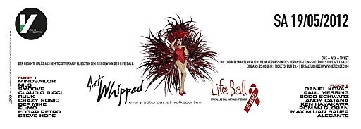 Die offizielle Lifeball Afterparty & Afterhour Flyer Rückseite