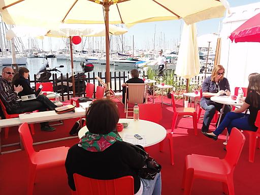 "Terrasse des Pavillons der ""AUSTRIAN Film Commissions & Funds"" in Cannes"