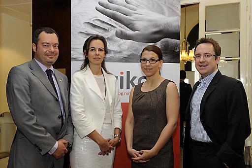 Im Bild v.l.n.r.: Alexander Ertler (IMMOBILIEN.NET), Sophie Karmasin (Karmasin Motivforschung), Helene Fink (wiko wirtschaftskommunikation), Philipp Kaufmann (ÖGNI)