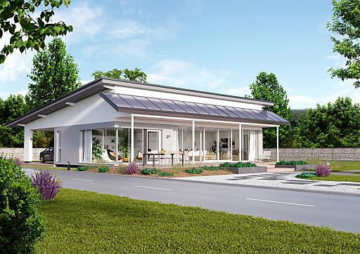 er ffnungsfest 1 passivhaus bungalow von elk elk fertighaus ag. Black Bedroom Furniture Sets. Home Design Ideas