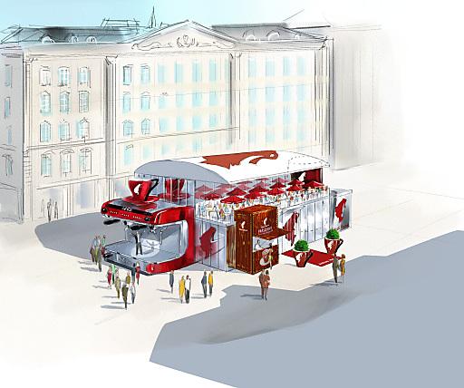 """Seit 1862 ist das international erfolgreiche österreichische Traditionsunternehmen Julius Meinl Kaffee ein essentieller Bestandteil der Wiener Kaffeehauskultur und Inspiration für Künstler und Poeten. 2012 blickt Julius Meinl Kaffee auf seine 150-jährige Erfolgsgeschichte zurück und feiert vom 14. bis 24. Juni sein Jubiläum an einem ganz besonderen Ort: """"Meinl's Café 150"""", ein für das Jubiläum designtes und temporär aufgebautes Kaffeehaus mitten am Wiener Graben bildet das Herzstück der Veranstaltungsreihe, es ist auch eine außergewöhnliche Hommage an die Wiener Kaffeehaus Kultur. Im Rahmen der Feierlichkeiten bietet Julius Meinl Kaffee kulinarische Köstlichkeiten und ein umfangreiches Rahmenprogramm."""