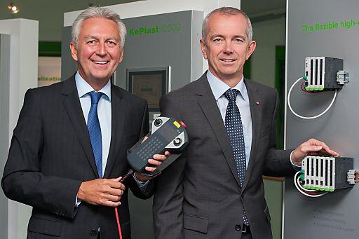 http://www.apa-fotoservice.at/galerie/3179 Im Bild v.l.n.r. Gerhard Luftensteiner (Vorstandsvorsitzende der KEBA AG) und Franz Höller (Vorstand)