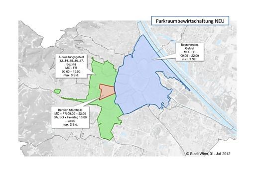 Parkraumbewirtschaftung: Regelungen im Erweiterungsgebiet festgelegt