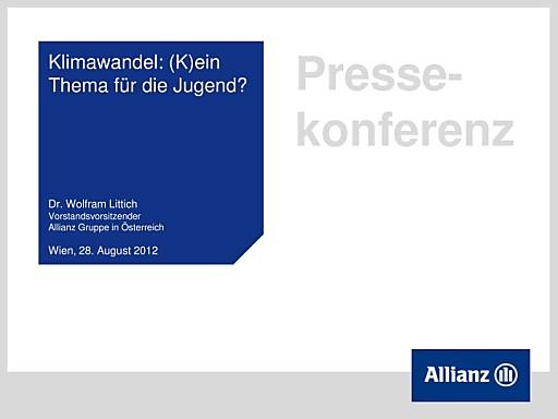 Aktuelle Allianz Studie: Österreichs Jugend resigniert in Sachen Klimaschutz