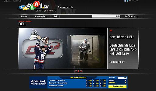 Das internationale Sport TV im Netz zeigt in Kooperation mit dem Free-TV-Partner ServusTV ab dieser Saison in der LAOLA1 Hockey Night jeweils freitags ein DEL-Spiel LIVE auf www.laola1.tv!