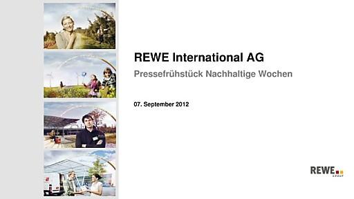 """REWE International AG setzt mit Nachhaltigen Wochen wichtige Akzente und stellt das Thema """"Gesünder leben"""" in den Mittelpunkt"""
