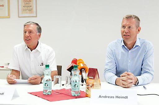 http://www.apa-fotoservice.at/galerie/3358/ Im Bild v.l.n.r.: Walter Heindl (Geschäftsführer der Walter Heindl GesmbH) mit Bruder Andreas Heindl (Geschäftsführer der Walter Heindl GesmbH)