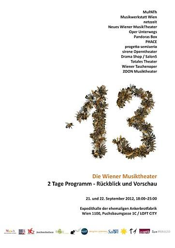 Die Wiener Musiktheater laden zum ersten gemeinsamen Fest: 13 - Die Wiener Musiktheater. No risk no fun!