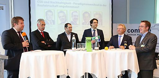 Mag. Michael Ehlmaier (EHL Immobilien), Prof. Uwe Frerichs (CA Immo AG), Mag. Daniel Riedl (IMMOFINANZ), Alexander Ghezzo (Confare), DI Martin M. Roth (IRG), MMag. Philipp Kaufmann (ÖGNI)