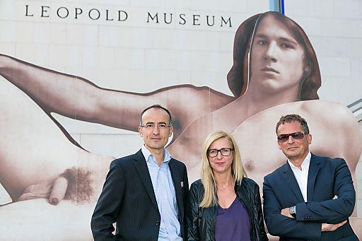 http://www.apa-fotoservice.at/galerie/3451 Im Bild vlnr.: Dr. Tobias G. Natter (Museologischer Direktor, Leopold Museum-Privatstiftung), Ilse Haider (Künstlerin), Dir. Mag. Peter Weinhäupl (Managing Director, Leopold Museum-Privatstiftung)