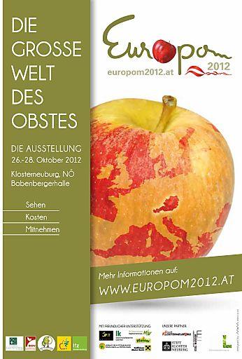 Die größte europäische Obstsortenausstellung EUROPOM präsentiert vom 26. bis 28. Oktober 2012 Genuss, Vielfalt und Wissen von und über Apfel & Co in der Klosterneuburger Babenbergerhalle.