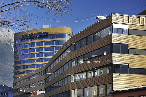 Das neue PEMA Gebäude in der Brunnecker Straße, neuer Verlagssitz der Moser Holding TT Tiroler Tageszeitung -Architektur Verlag MoHo