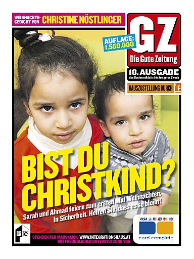 """Die 18. Gute Zeitung - """"Ein Haus voller Hoffnung hängt an 1,5 Mio. Haustüren!"""" - Cover"""