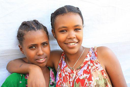 Sternsinger/innen sammeln für Straßenkinder in Äthiopien. Fayerya und Kalkida werden im Straßenkinder-Projekt in Dire Dawa gut betreut.