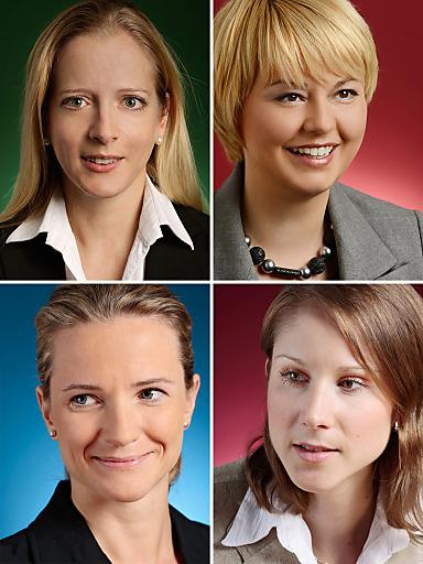 Im Bild: oben v.l.: Erika Pircher-Eschig, Laura T. Struc, unten v.l.: Valerie Hohenberg, L'ubica Páleníková, Wolf Theiss