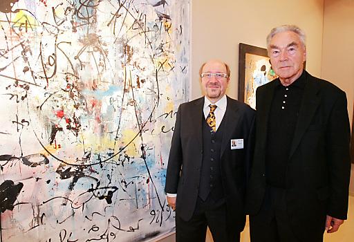 http://www.apa-fotoservice.at/galerie/3898 Im Bild v.l.n.r.: Horst Szaal (Präsident des Verbandes Österreichischer Antiquitäten- und Kunsthändler) und Beppo Mauhart (Präsident der Wirtschaftsinitiative Neues Künstlerhaus (WINK)).