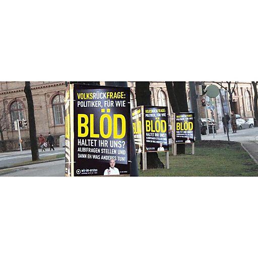 """""""Wir im Ersten""""-Plakat zur Volksbefragung"""