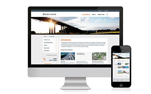 Fokus auf User-Bedürfnisse: Die neue ASFINAG Homepage.