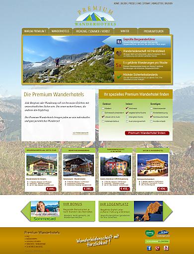 """Die Vermarktung der """"Premium Wanderhotels"""" erfolgt zum Großteil über E-Marketing. Die Website ist bereits online."""