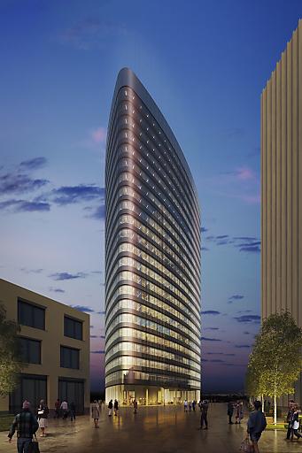 TownTown: ORBI Tower kommt auf letzten freien Bauplatz