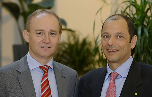 LGV-Aufsichtsratsvorsitzender KDir. Ing. Robert Fitzthum (li), LGV-Vorstand Mag. Gerald König (re).