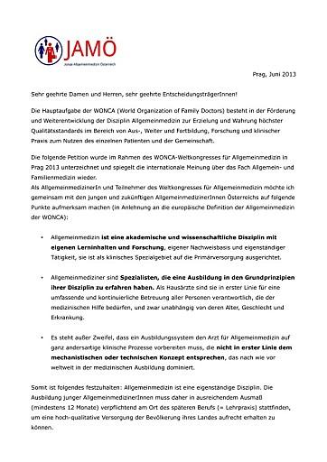 Minister Stögers Ausbildungsordnung ruft beim Weltkongress für Allgemeinmedizin Verwunderung hervor.