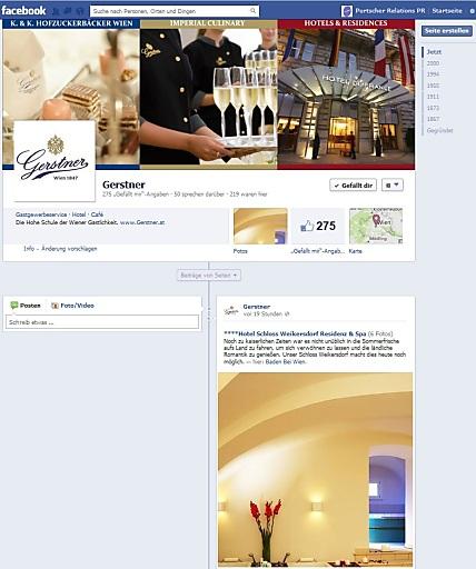 Screenshot der aktuellen Facebook-Seite von Gerstner