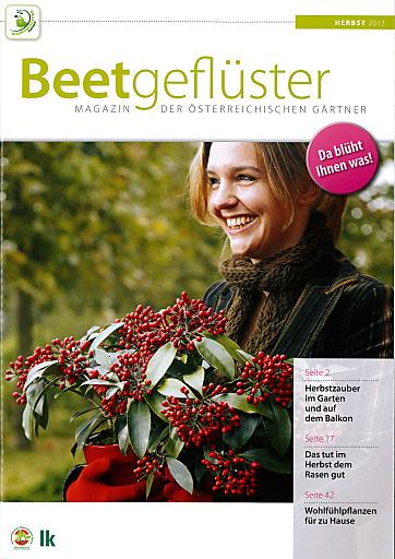 """Cover der ersten Ausgabe """"Beetgeflüster"""" Herbst 2013"""