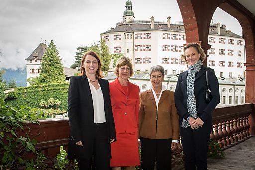 Im Bild v.l.n.r: Sandbichler, Schadt, Fischer, Sophie von Liechtenstein