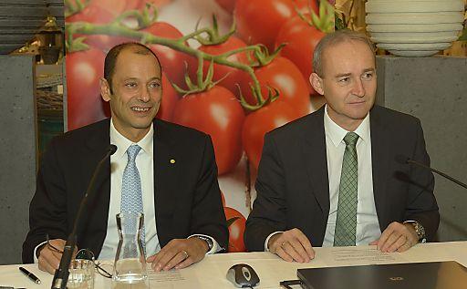 LGV-Vorstand Mag. Gerald König (li), LGV-Aufsichtsratsvorsitzender KDir. Ing. Robert Fitzthum (re).