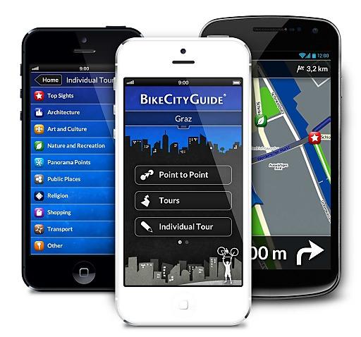 In Verbindung mit Finn und der BikeCityGuide-App wird das Handy zum Fahrrad-Navi.