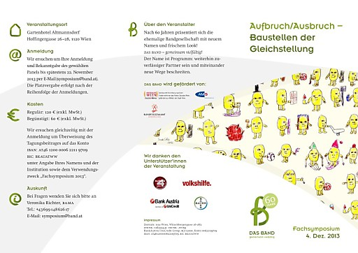 """Fachsymposium """"Aufbruch/Ausbruch - Baustellen der Gleichstellung"""""""