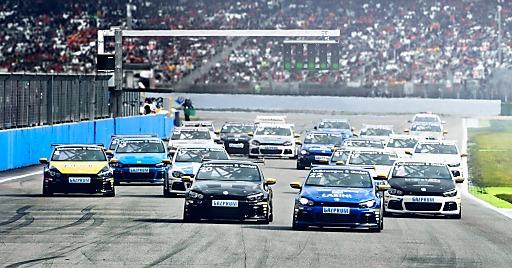 Gazprom ist 2014 exklusiver Kraftstofflieferant des weltweit einzigen Erdgas-Marken-Rennen VW Scirocco R-Cups.