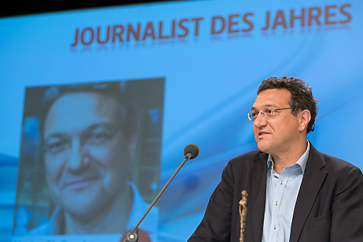 """http://www.apa-fotoservice.at/galerie/5053 Im Bild: Karim El-Gawhary (ORF und """"Presse"""") ist Journalist des Jahres."""