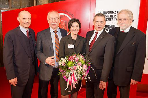 FG Obmann Stv. Mag. Wilhelm Hemerka, Prof. Dr. Gerd Gigerenzer, FG Obmann Stv. Brigitte Kreuzer, FG Obmann Helmut Mojescick, Prof. Dr. Anton Zeilinger.